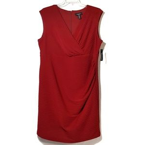 NEW Ribbed Knit Sheath Dress Apple Red